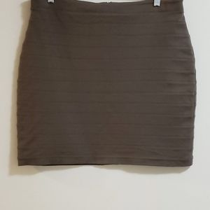 Express Tucked Pencil Skirt, Brown, Sz 12